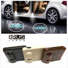JURUS 2 pcs Sem Fio Da Porta de Carro Vindo Logo emblema Luzes No broca Tipo luz Do Emblema Para Subaru LEVOU Fantasma Projetor Laser luz