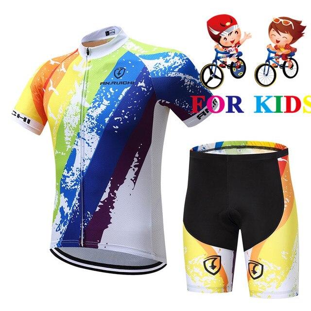 Verano ciclismo Jersey 2019 niño ciclismo ropa conjunto Maillot carreras deporte Jersey ciclismo niño bicicleta desgaste mangas cortas