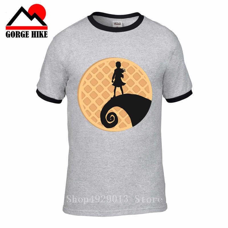 악몽 전에 낯선 것들 티셔츠 티셔츠 남자 끔찍한 tv 반팔 남자 친구 플러스 사이즈 파티 고릴라 즈 티셔츠 캐주얼