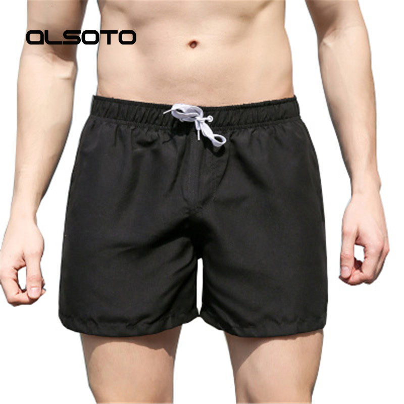 ALSOTO Summer Man Beach   Shorts   Solid Color Swimming Quick Drying Casual Plus Size Mens Yoga Sports Surf Briefs   Board     Shorts