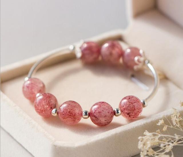 Bracelet quarts rose
