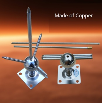 Lightning Rod Made of Copper Lightning Conductor 1m length 1.8kg for 100 square meter house/roof