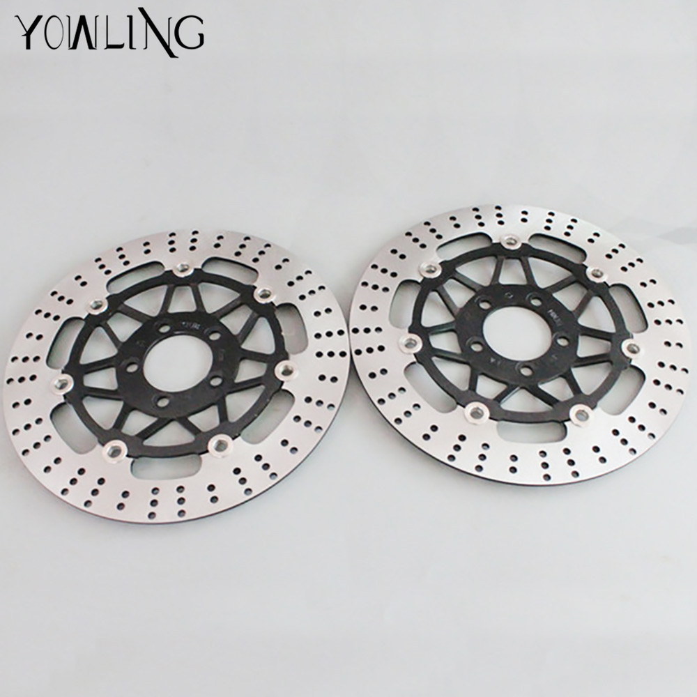 2 PC high quality motorcycle parts Accessories Front Brake Discs Rotor for KAWASAKI ZZR400 ZXR400 ZRX400 ZZR250 ZZR ZXR 400 250 starpad for lifan motorcycle lf150 10s kpr150 new front brake discs accessories