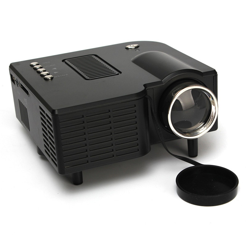 ФОТО New Arrival High Quality Portable UG28+ Mini LED Front Projector HDMI Home Cinema PC Laptop VGA USB SD AV black