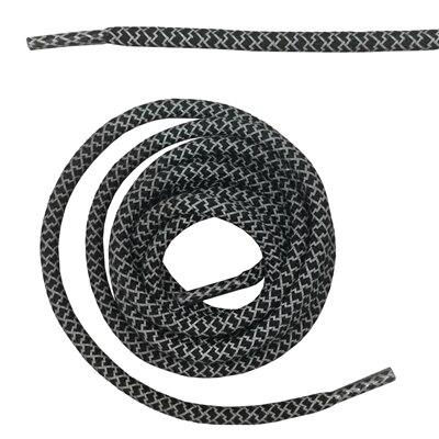 """Круглая веревка 3м Светоотражающие шнурки для ботинок бегуна видимые безопасные шнурки 14 цветов 4"""" /120 см - Цвет: black"""