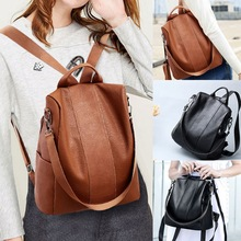 d00ea4d2d SHUJIN Women Fashion Backpack High Quality Youth Leather Backpacks for  Teenage Girls Female Anti-theft