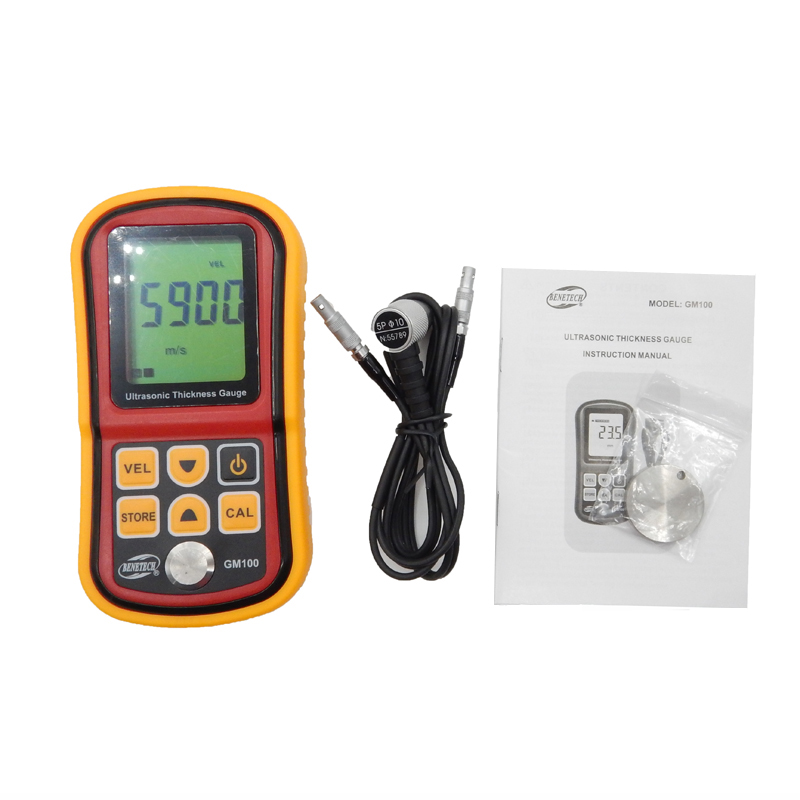 GM100 Digital Ultrasonic Thickness Gauge tester 1.2 to 200MM Sound Velocity Meter