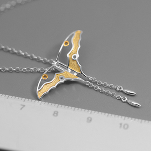 Image 4 - Lotus Fun Real 925 Sterling Silver Natural Creative Handmade Fine Jewelry Hollow Butterfly Kite Pendant without Necklace