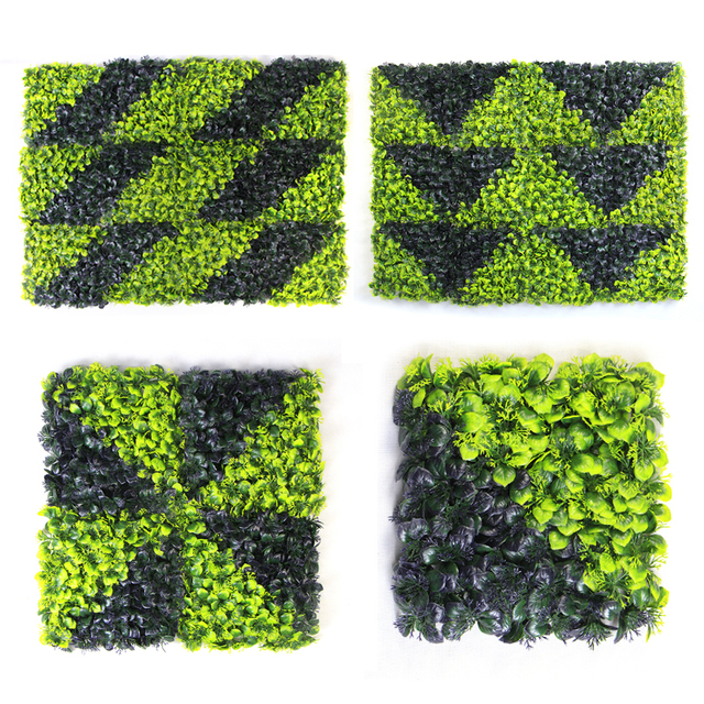 Artificial Leaves Hedges Vertical Wall Garden 10X10 inches UV Proof ...