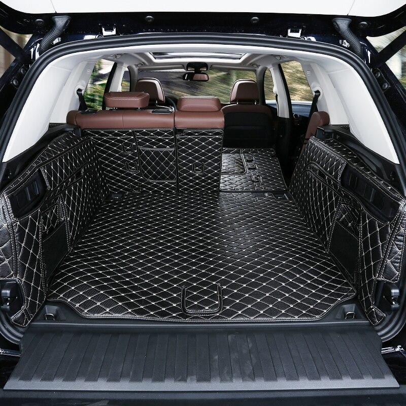 Lsrtw2017 tapis de coffre de voiture en cuir fibre pour bmw x5 2019 2020 2021 G05 - 3