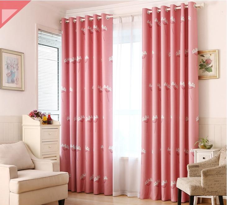 Rustic Window Curtains For living Room/ Bedroom Dandelion Blackout ...