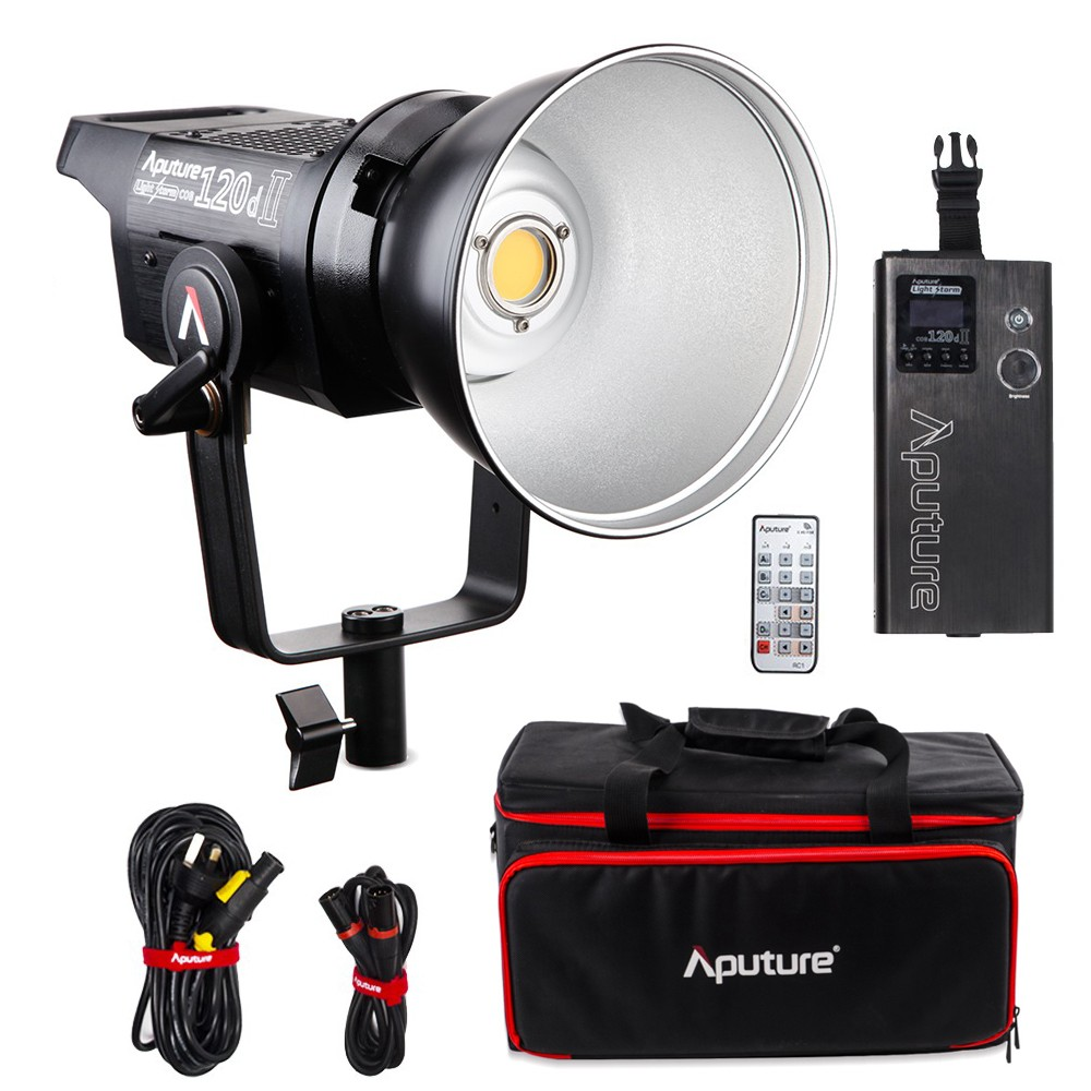 Aputure LS C120d 120D II 180W LED Continuous V-Mount Video Light CRI96+ TLCI97+ 2.4G 5500K Bowens Mount Daylight Studio Light