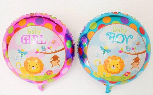 4pcs Baby Boy Girl Cartoon Foil Balloonsthe 1st Birthday Party Decorations Balloon
