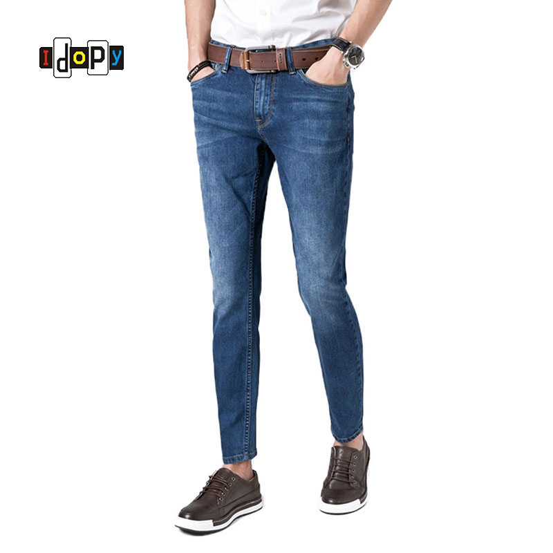 Casual Men's Vintage Washed Jeans Skinny Fit Mens Stretch Ripped Denim Pants Fashion Jean Trousers For Men 2017 autumn new fashion pencil mens skinny jeans trousers stretch jean homme mid waist denim pants men casual jeans hommes