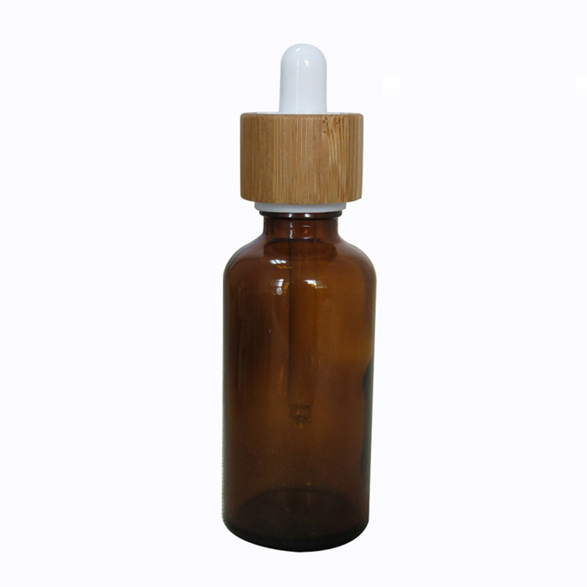 110PCS  30ML Bamboo Lotion Tube Containers Eessence oil Bottles With Dropper Essence Oil Lotion Glass Dropper Bottle 30ML