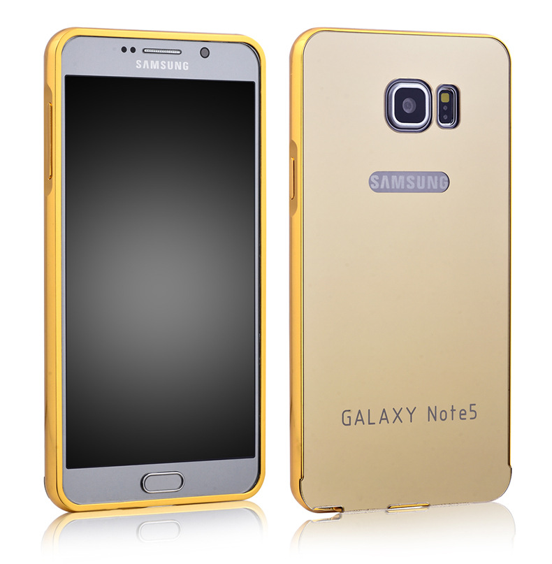bed02b914b5 Luxury Mirror Case For Samsung Galaxy Note 5 Aluminum plating Case ...