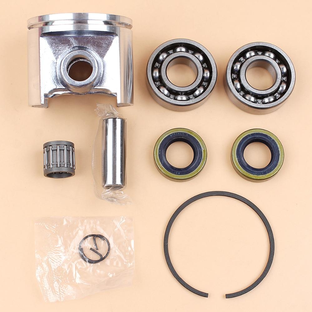 50mm Piston Crankshaft Needle Bearing Oil Seal Kit For HUSQVARNA 272XP 272 XP 268 266 61 Chainsaw Motor Engine Parts