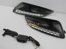 July King LED Daytime Running Lights DRL with Fog Lamp Cover Case for Ford Focus Fiesta 2013~2016 1:1 Replacement, Fast Shipping