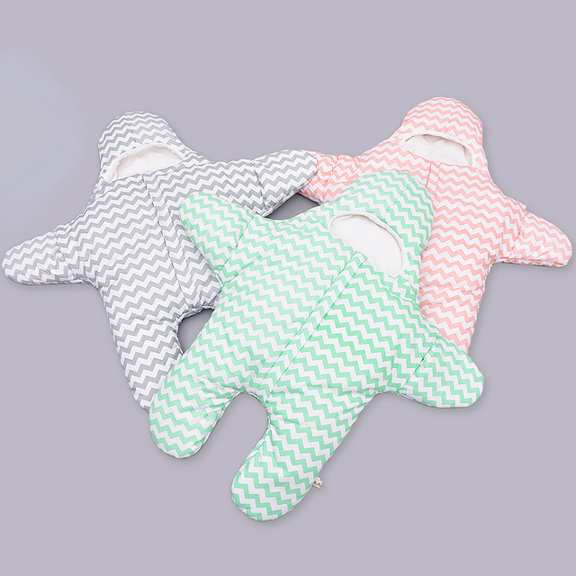 2016 Venda Quente Saco de Dormir Do Bebê Saco de Dormir Do Bebê Estrela Do Mar Newbron Inverno Swaddle Envoltório Cobertor Da Cama Espessamento Cama Carrinho de criança