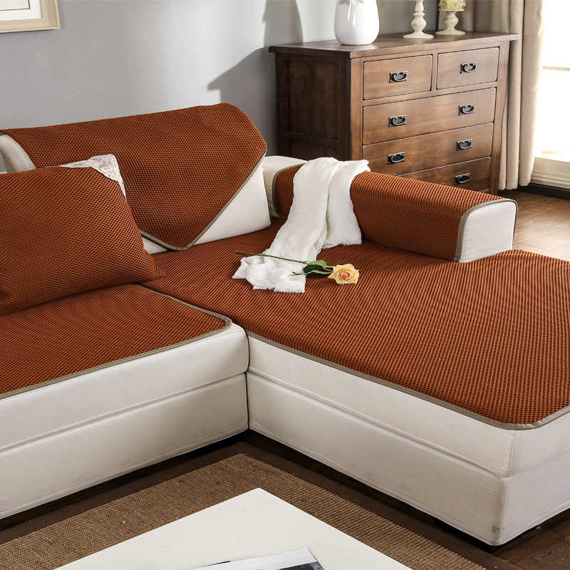 Breathable Mesh Leather Sofa Cover Non