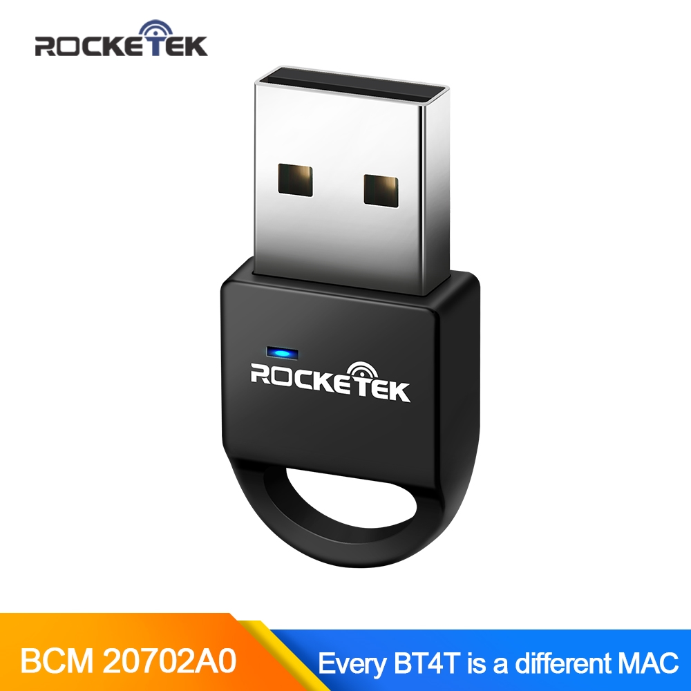 Rocketek Broadcom BCM 4.0 A2DP Bluetooth Adapter Independent MAC USB Dongle for PC Computer Speaker Audio Receiver transmitter