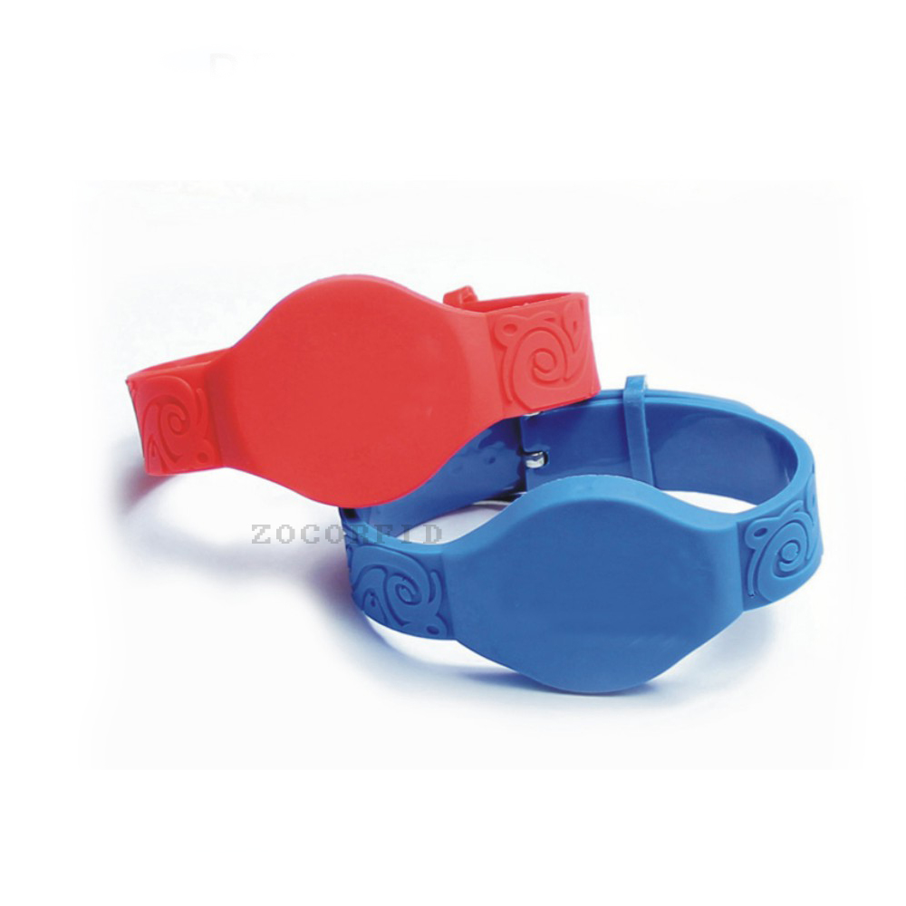 50pcs 125KHz Silicone RFID Wristband with TK4100 compatible EM4100 in Access Control cabint lock key