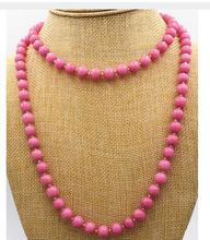 Women jewelry choker anime gem chocker maxi collier Stunning NEW Pretty 8mm Pink Rhodochrosite beads necklace