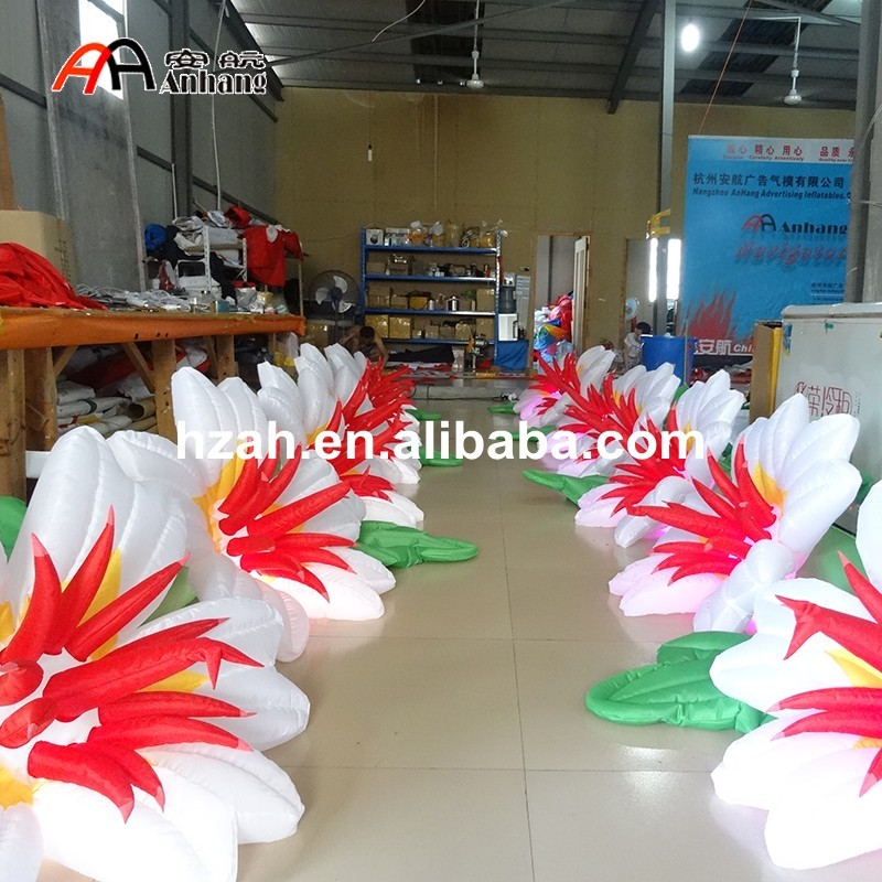 Beautiful Lighted Inflatable Flower Chain For Wedding And Party