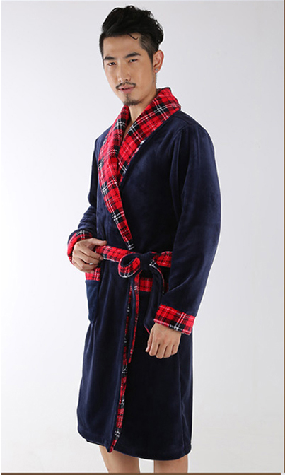 Men Style Sexy Bathrobe Mens Robes Men kimono Winter Robe Masculino Wedding Dressing Gow ...