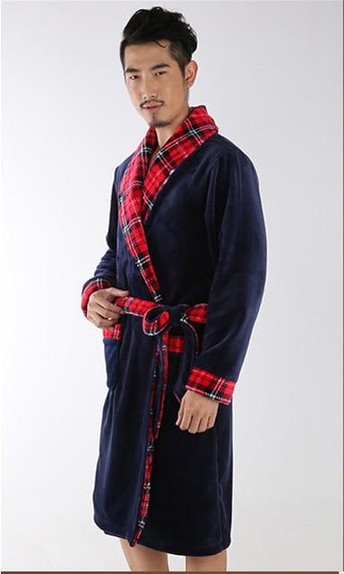 Männer Stil Sexy Bademantel Herren Roben Männer kimono Winter Robe ...