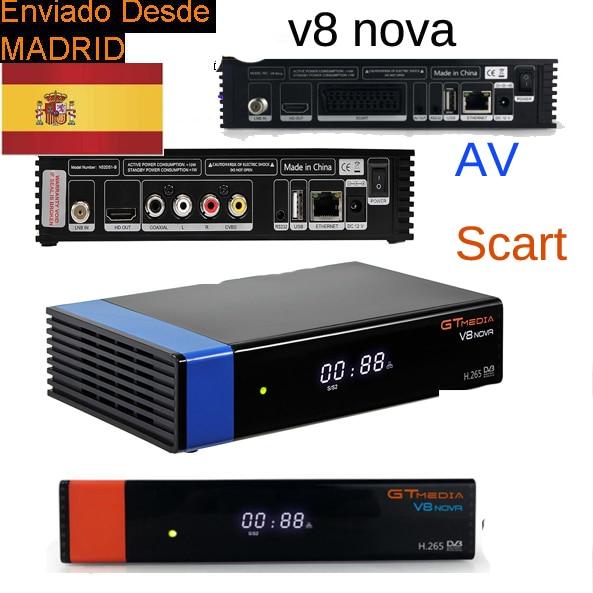 GTMEDIA V8 NOVA freesat v8 super av/scart receiver H2.65 FREESAT V9 SUPER Satellite TV Receiver DVB-S2 wifi internal spain stock [genuine] freesat v8 super