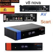 Freesat v8 супер GTMEDIA V8 NOVA/av/приемник scart H2.65 FREESAT V9 Супер Спутниковый ТВ приемник DVB-S2 Wi-Fi внутренний испания наличии