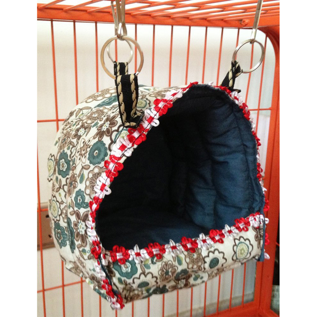 Rabbit /Ferret /Guinea Pig /Parrots /Small Animals Hanging Cave Cage Plush Snuggle Happy Hut Tent Bed Bunk Parrot Toy