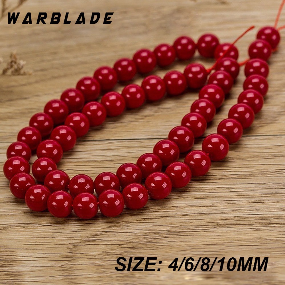 Beads Wbl High Quality Natural Stone Dark Red Coral Beads Round Loose Beads 4mm 6mm 8mm 10mm For Diy Bracelet Necklace Jewelry Making Ideal Gift For All Occasions