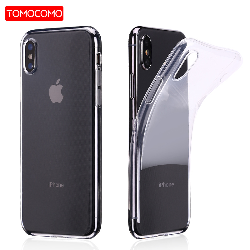TOMOCOMO Thin Flat Transparent Soft Phone Case Elegant High Quality For iPhone7Plus 6 6S 6Plus 8 8plus X SAMSUNG S8 S9 S9Plus