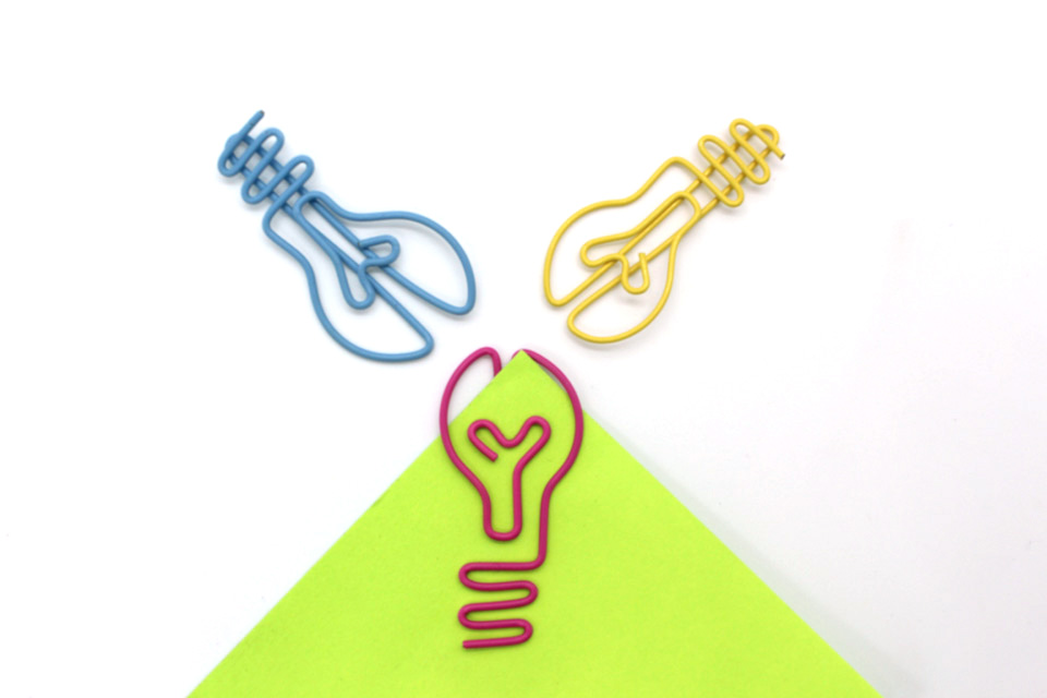 Light Bulb Shaped Paper Clips [ 100 Piece Lot ] 2