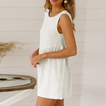 Summer Playsuits Women Jumpsuit Short Cotton Linen Casual Ruffles  strap boho Sexy Rompers Overalls Playsuit Mujer 6