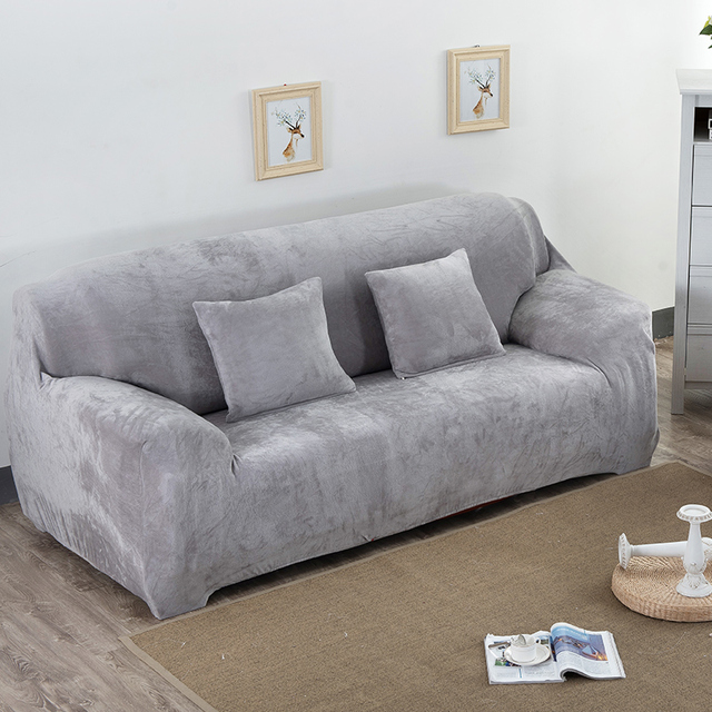 Thick Plush Sofa Slipcover Couch