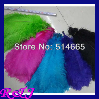 EMS Free shipping Cheap ostrich feather 100pcs 14-16 inches 35-40cm mix 2 color Ostrich plumage ostrich plume