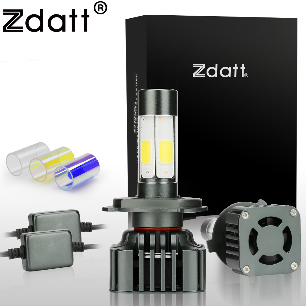 Zdatt Super Bright H4 Led Bulb 100W 12000LM Car Led Headlights H7 H8 H9 H11 9005
