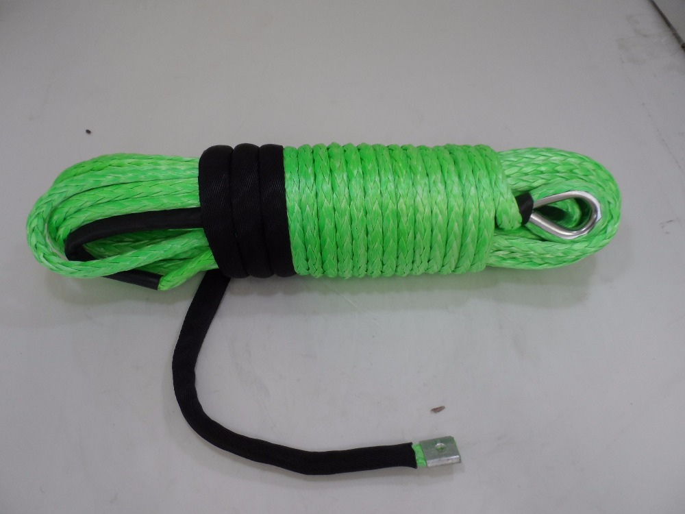Green 11mm*30m Synthetic Winch Rope,Off Road Rope,Replacement Winch Cable,Boat Winch Rope