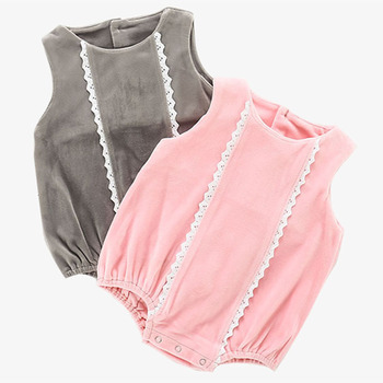 Dziewczynek odzież moda O-Neck bez rękawów pajacyki nowy 2019 lato Pure Color odzież dla niemowląt dziewczynek pajacyki tanie i dobre opinie Dla dzieci Body campure COTTON Dziecko dziewczyny Drukuj LE1216 Pasuje prawda na wymiar weź swój normalny rozmiar More Color
