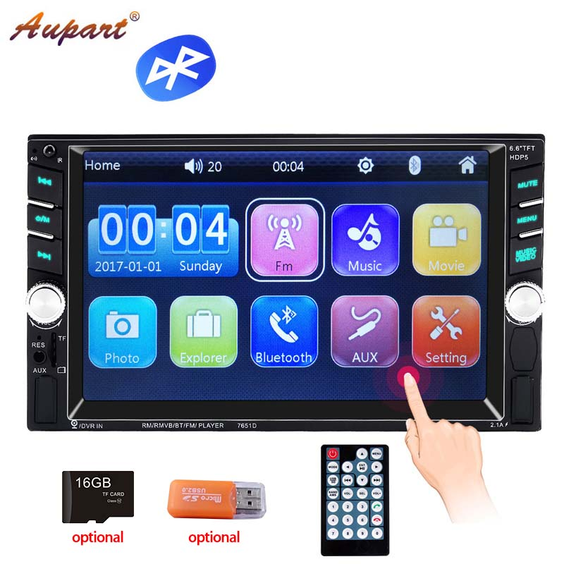 2 Din Car Radio Auto audio Touch Screen 2din autoradio Bluetooth Coche stereo HD Mp5 Radios charger Mirror steering wheel ctrl-in Car Radios from Automobiles & Motorcycles