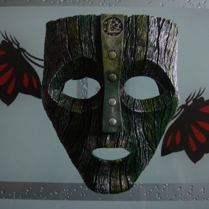Loki Maschera di Jim Carrey Pellicola 'Mask' Verde Costume di Fantasia Cosplay Puntelli di Halloween