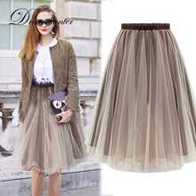 Spring Summer Tulle Skirts Womens BlackGray Brown Adult Tulle Skirt