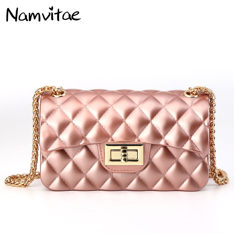 Fashion Chains Women Shoulder Bag Candy Colorful Crossbody Jerry Small Shell Bag Famous Brand Mini Women Party Clutch Purse Bags