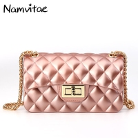 Fashion Women Small Shoulder Bag Candy Colorful Crossbody Jerry Shell Bag Brands Designer Lady Chains Messenger