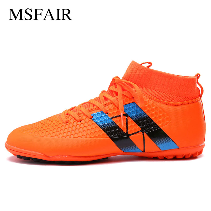 Msfair Sport Shoes For Men Soccer Shoes Broken nail Soccer Cleats Outdoor Athletic font b Football