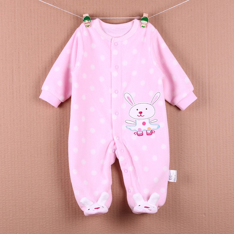 New Arrival Baby Footies Boys&Girls Jumpsuits Spring Autumn Clothes Warm Cotton Baby Footies Fleece Baby Clothing Free Shipping (24)