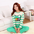 cotton pajamas to increase the size of the yard cotton pajamas cute cartoon frog lady autumn paragraph home suit
